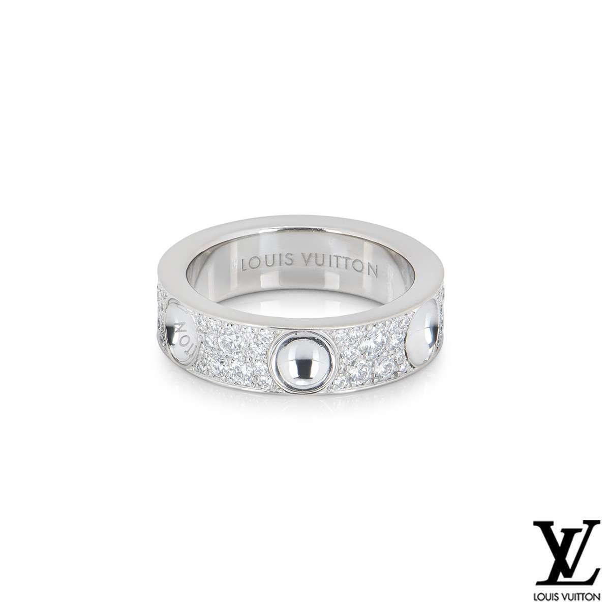 Louis Vuitton Empreinte Diamond Ring Q9A01A